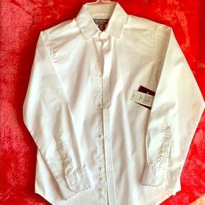 [Van Heusen] Boys' White Button Down Oxford Shirt